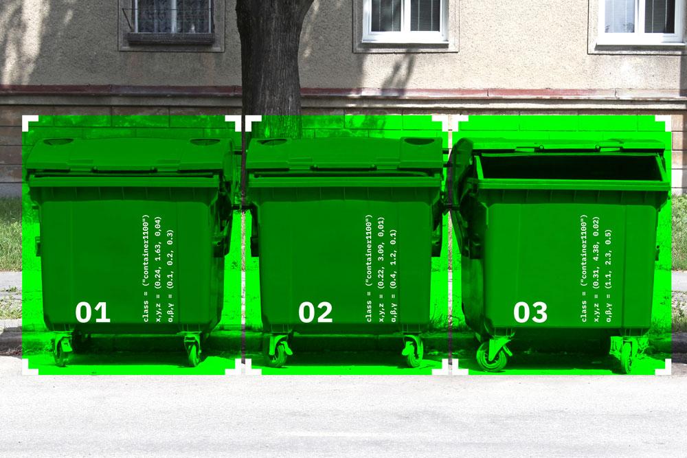 Erfassung von Mülltonnen