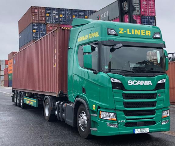 """Zippel-Lkw mit LUIS-Abbiegeassistent"", Quelle: LUIS Technology"